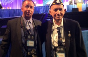 Garland Denny & his son Chuck at the American Legion Convention in Charlotte, NC