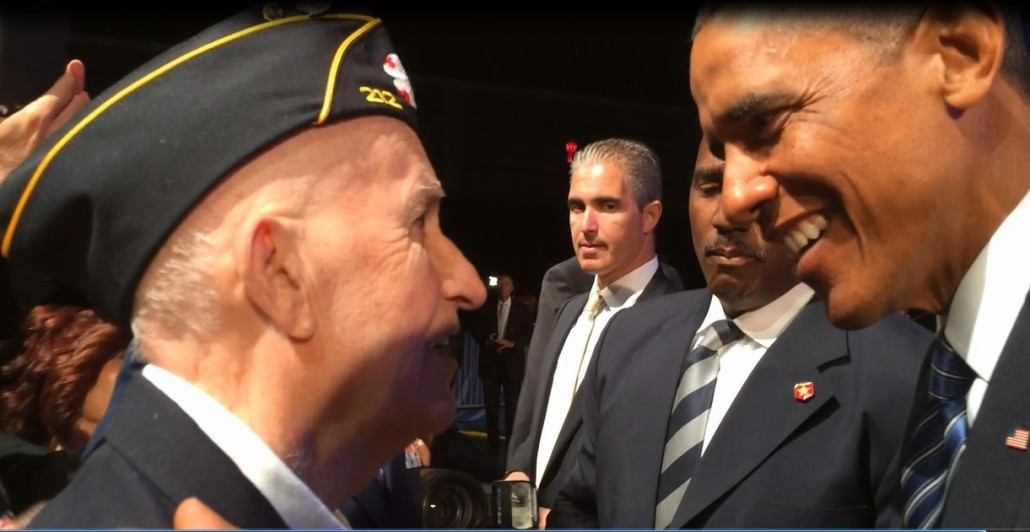 President Thanks Veteran