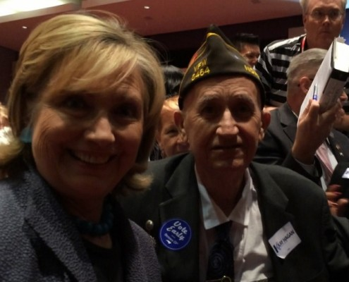 Garland Denny meets Hillary Clinton in Charlotte, NC