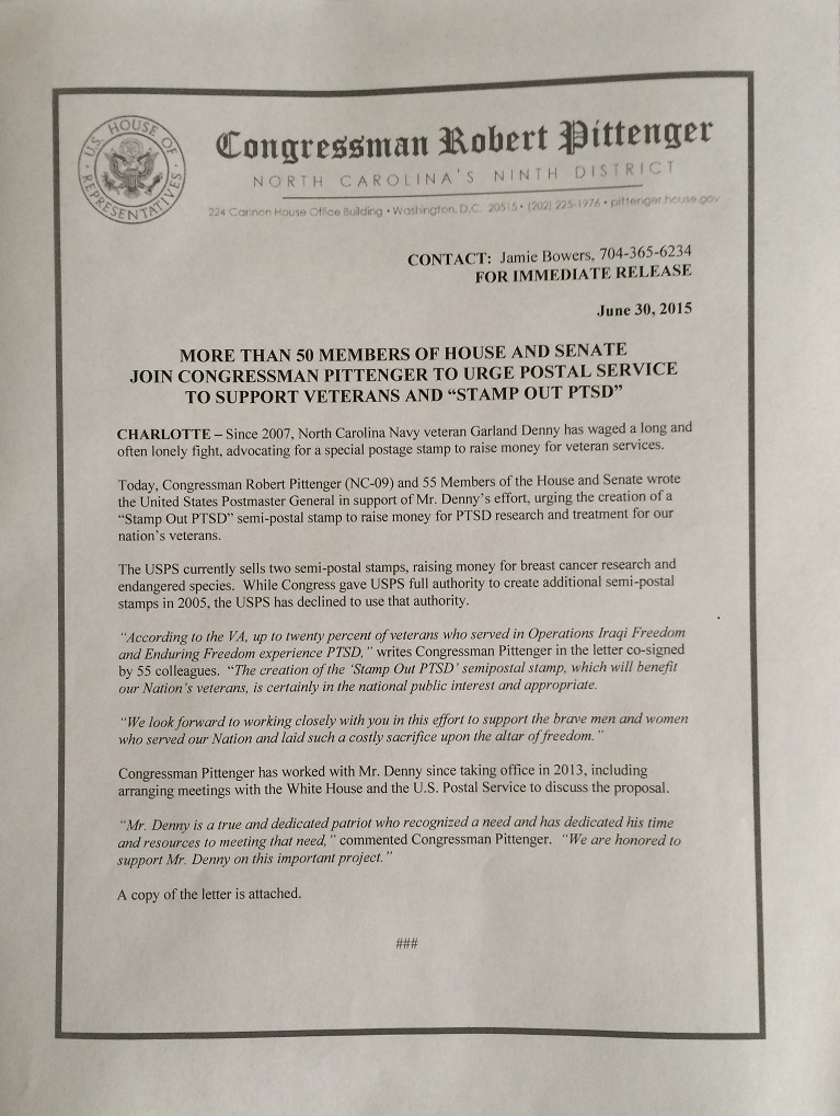 Pittenger Press Release 62915